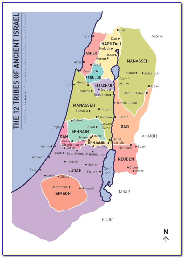 Maps Of Israel In Biblical Times
