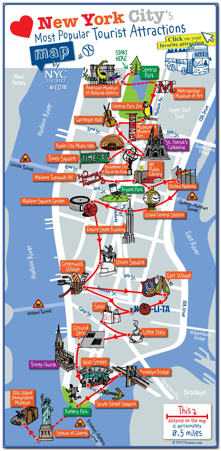 Maps Of New York City Attractions
