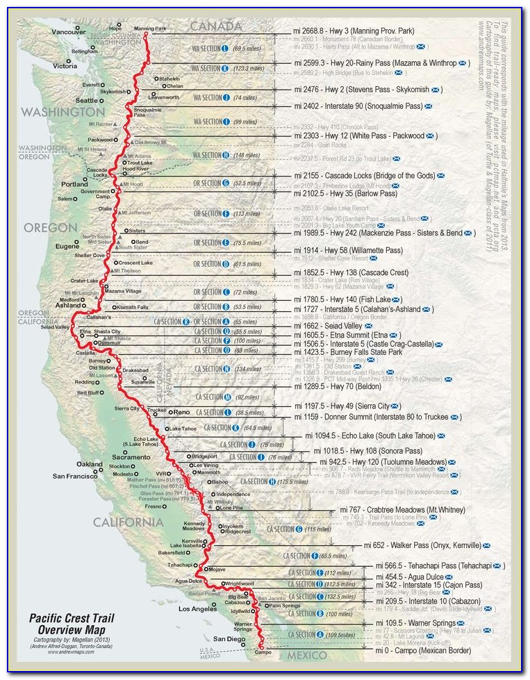 Maps Of The Pacific Crest Trail
