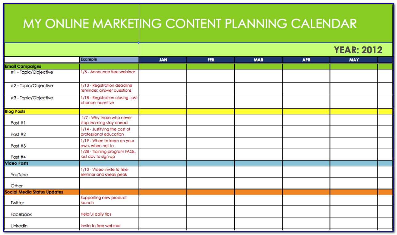 Marketing Action Plan Template Xls