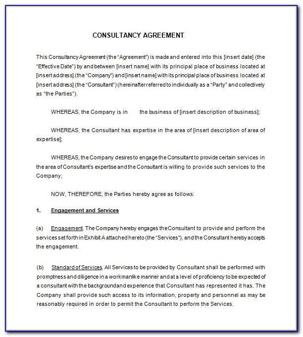 Marketing Consultant Contract Template Uk