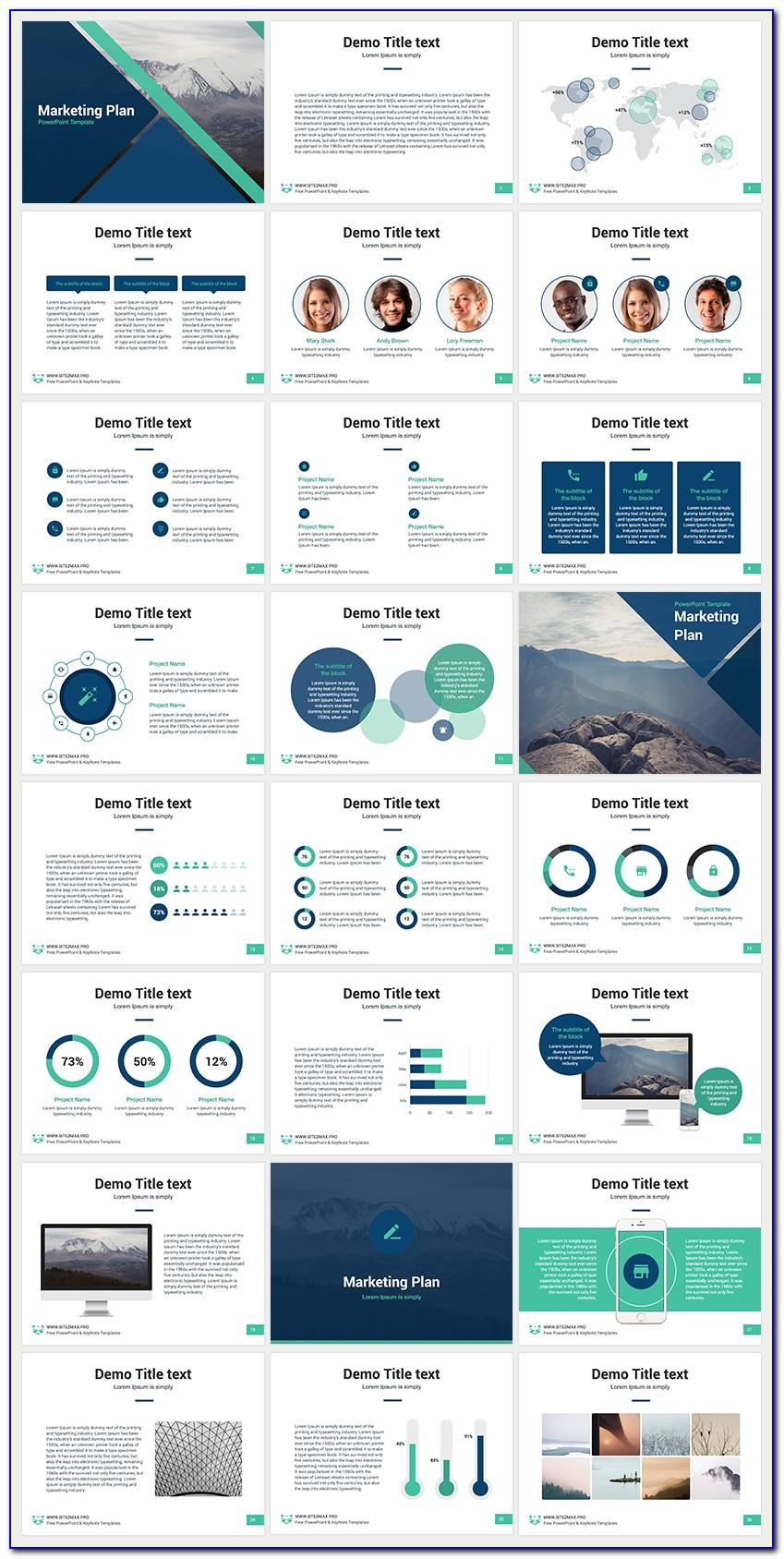 Marketing Plan Ppt Template Free Download