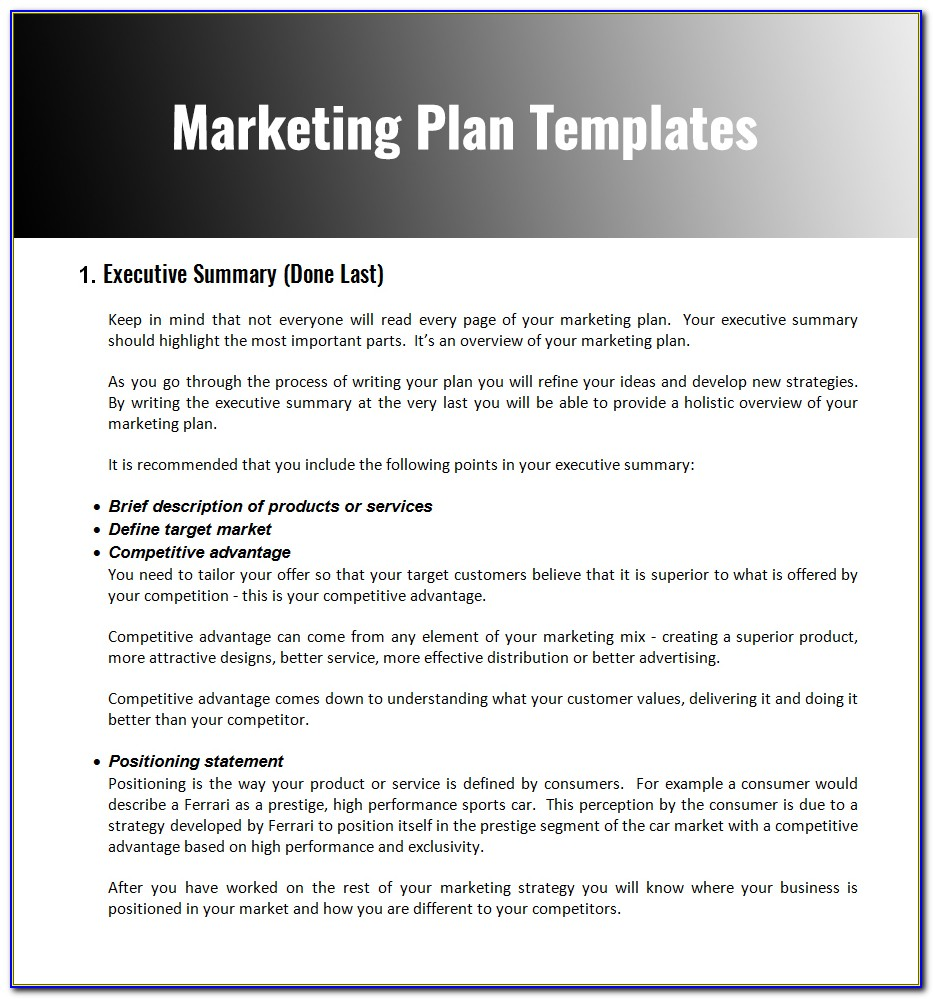 Marketing Strategy Plan Template Pdf