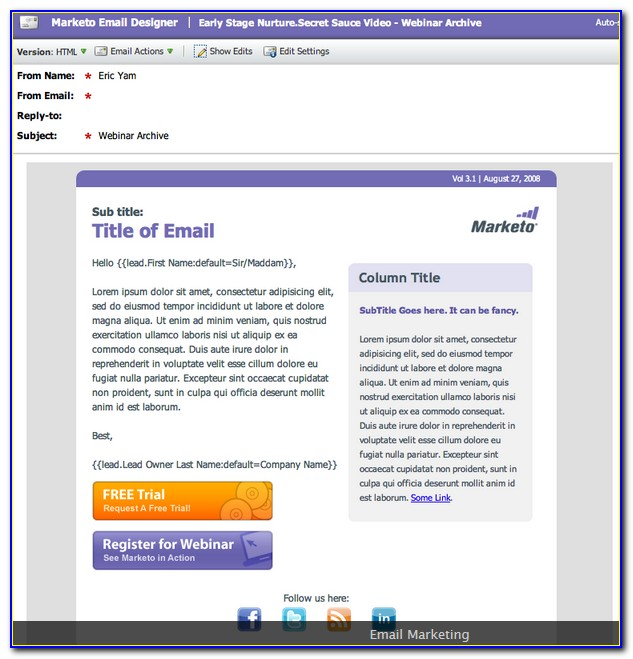 Marketo Email Template Builder