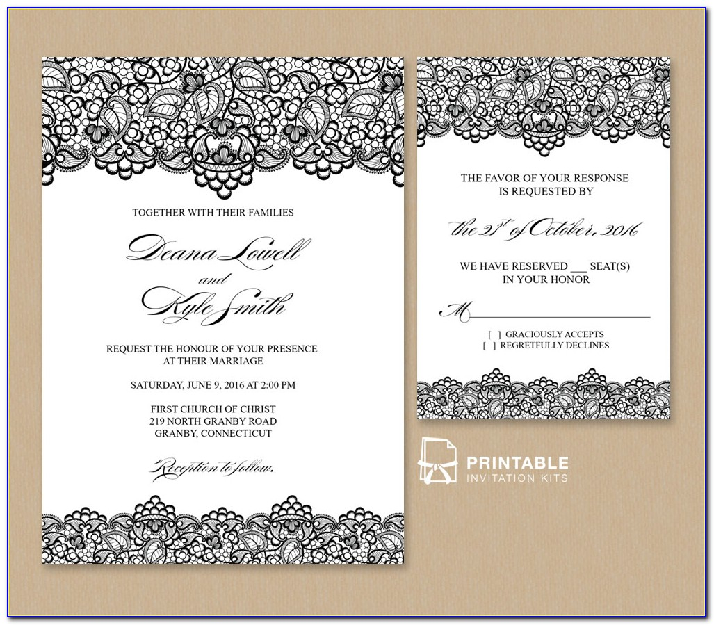 Marriage Invitation Template Free
