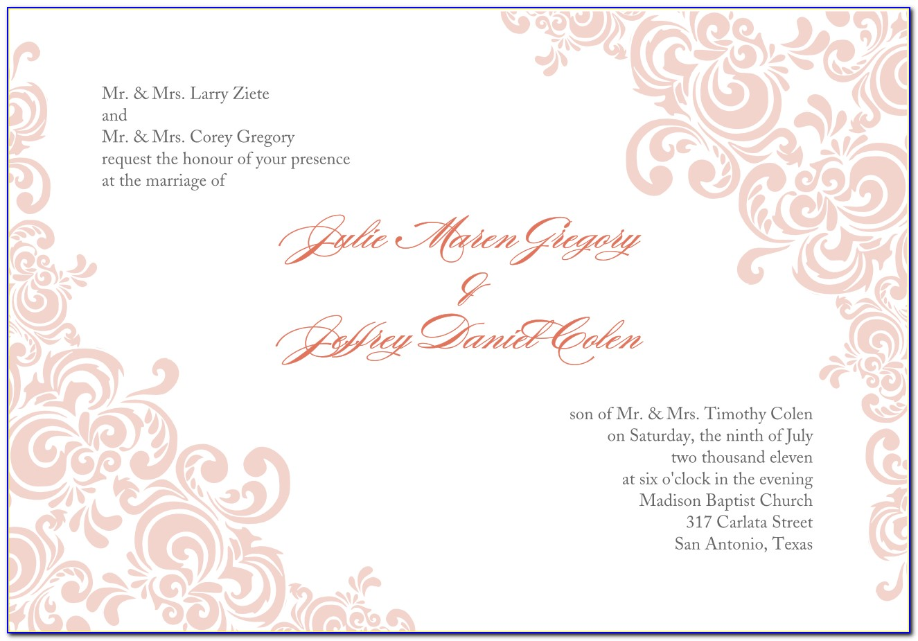 Marriage Invitation Template Psd