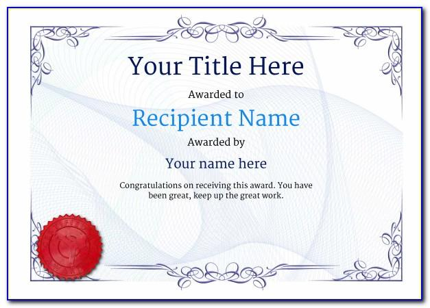 Martial Arts Certificate Templates Word