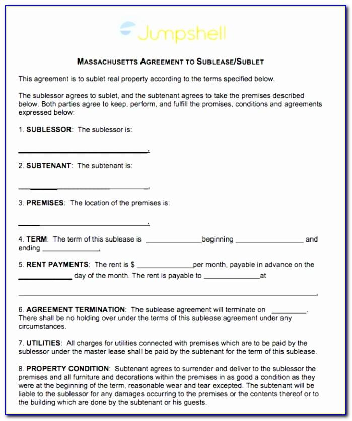 Master Lease Agreement Form