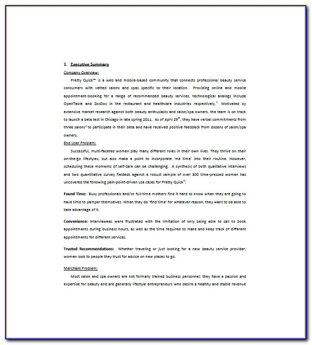 Med Spa Business Plan Template