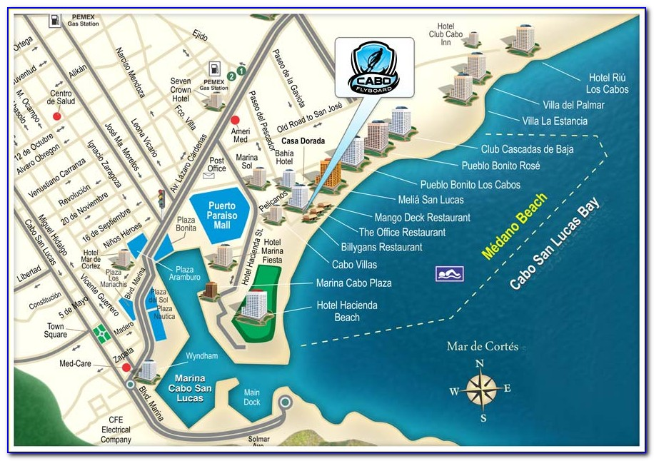 Medano Beach Hotels Map