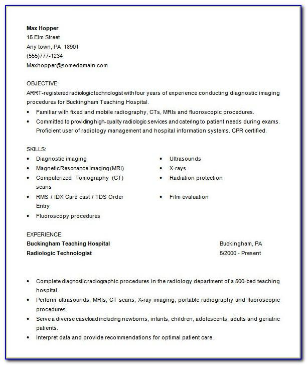 Medical Receptionist Resume Template Free