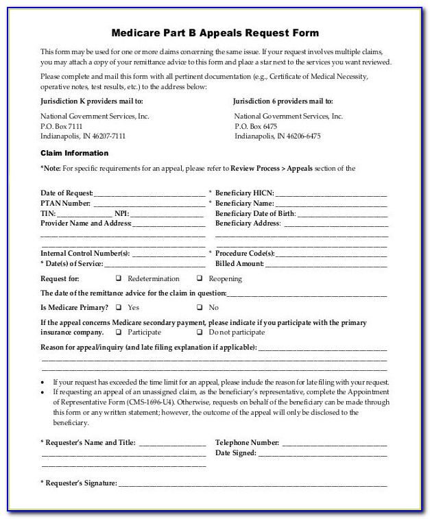 Medicare Part B Form | Rudycoby Throughout Medicare Part B Form