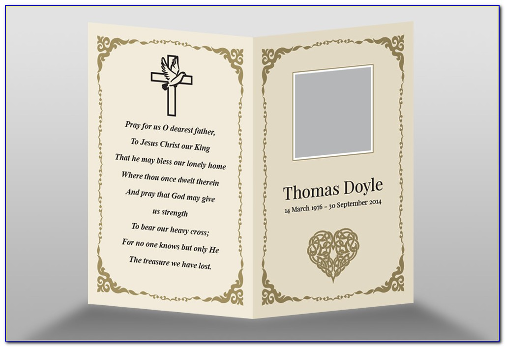 Memorial Card Template Free Download