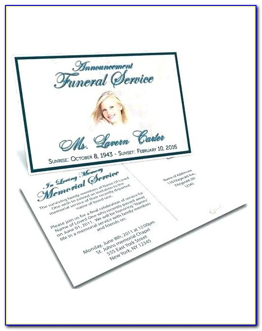 Memorial Service Invitation Template Word