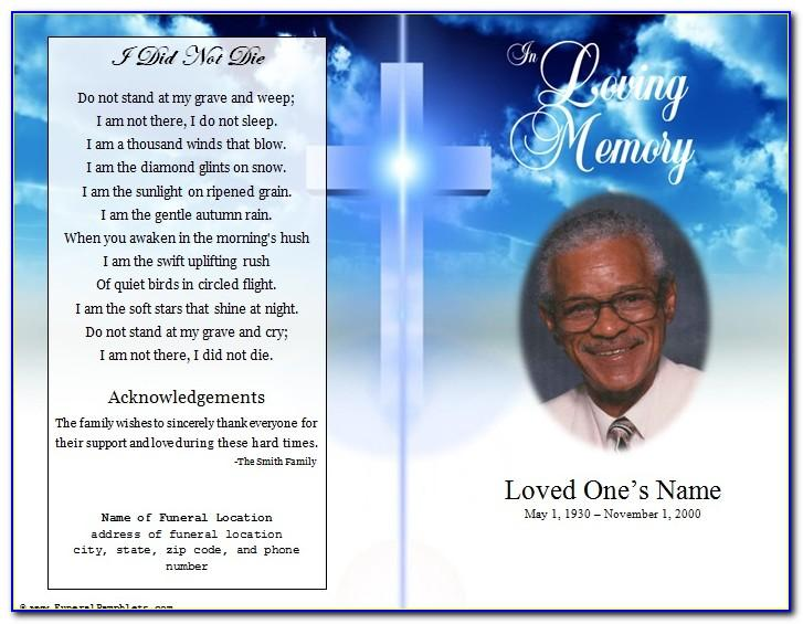 Memorial Service Powerpoint Template Free