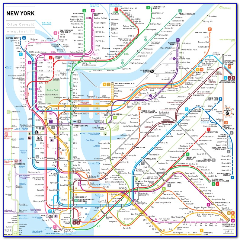 Metro Map Ny City