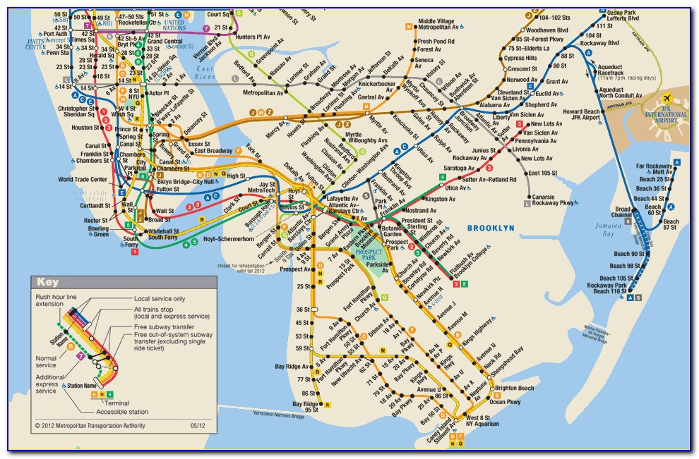 Metro Train Map New York