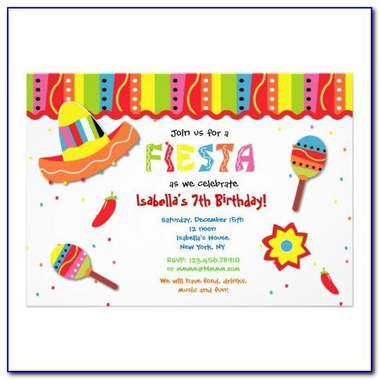 Mexican Fiesta Invitations Templates Free