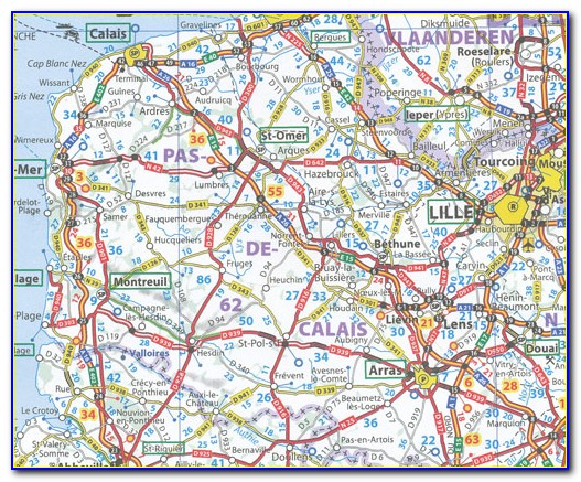 Michelin Europe Road Map