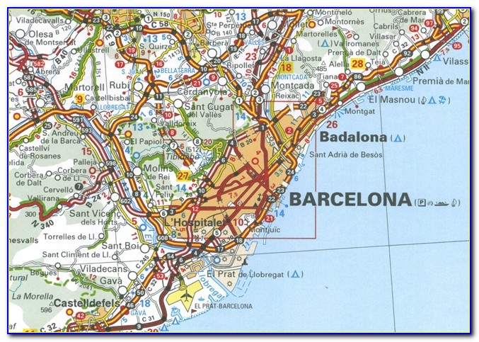 Michelin Spain Andalucia Map 578