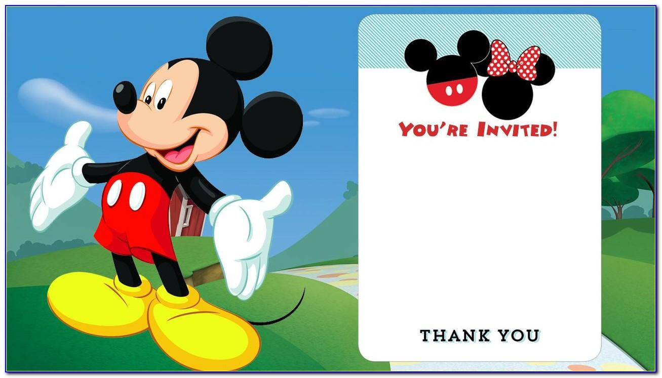 Mickey Mouse Clubhouse Birthday Invitations Template
