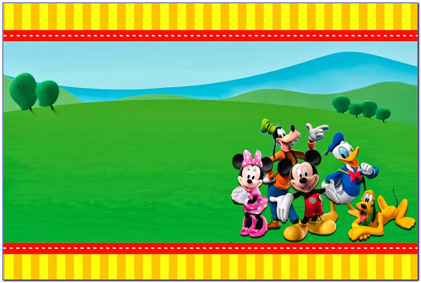 Mickey Mouse Clubhouse Party Invitation Template