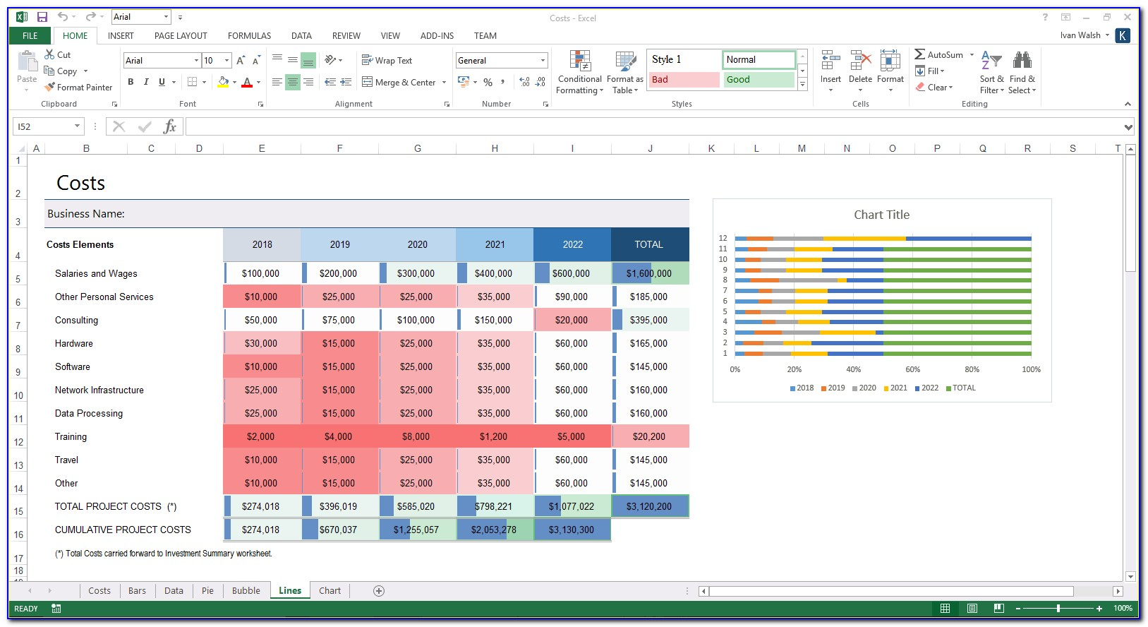 Microsoft Excel Business Plan Template