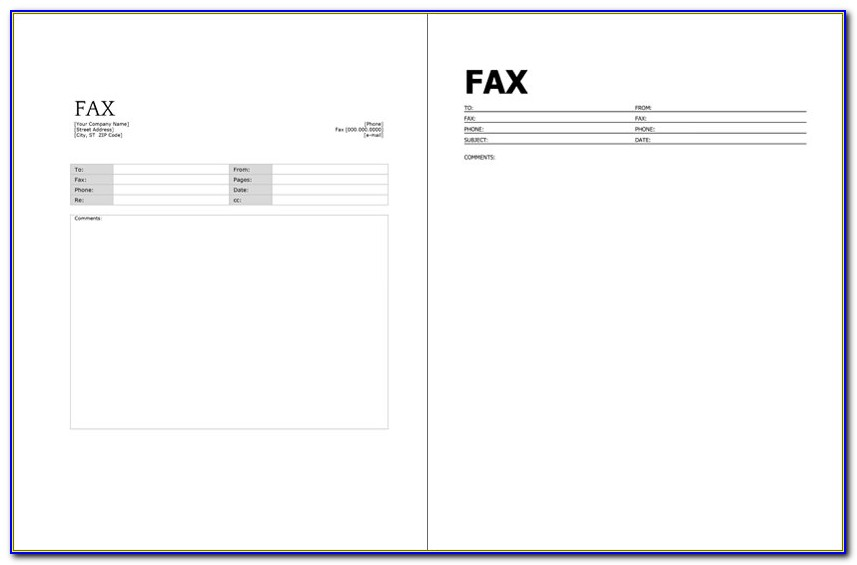 Microsoft Fax Templates Free Download