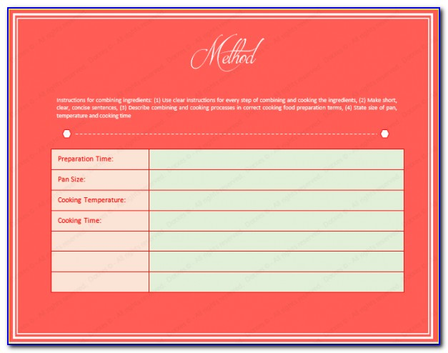 Microsoft Publisher Cookbook Template