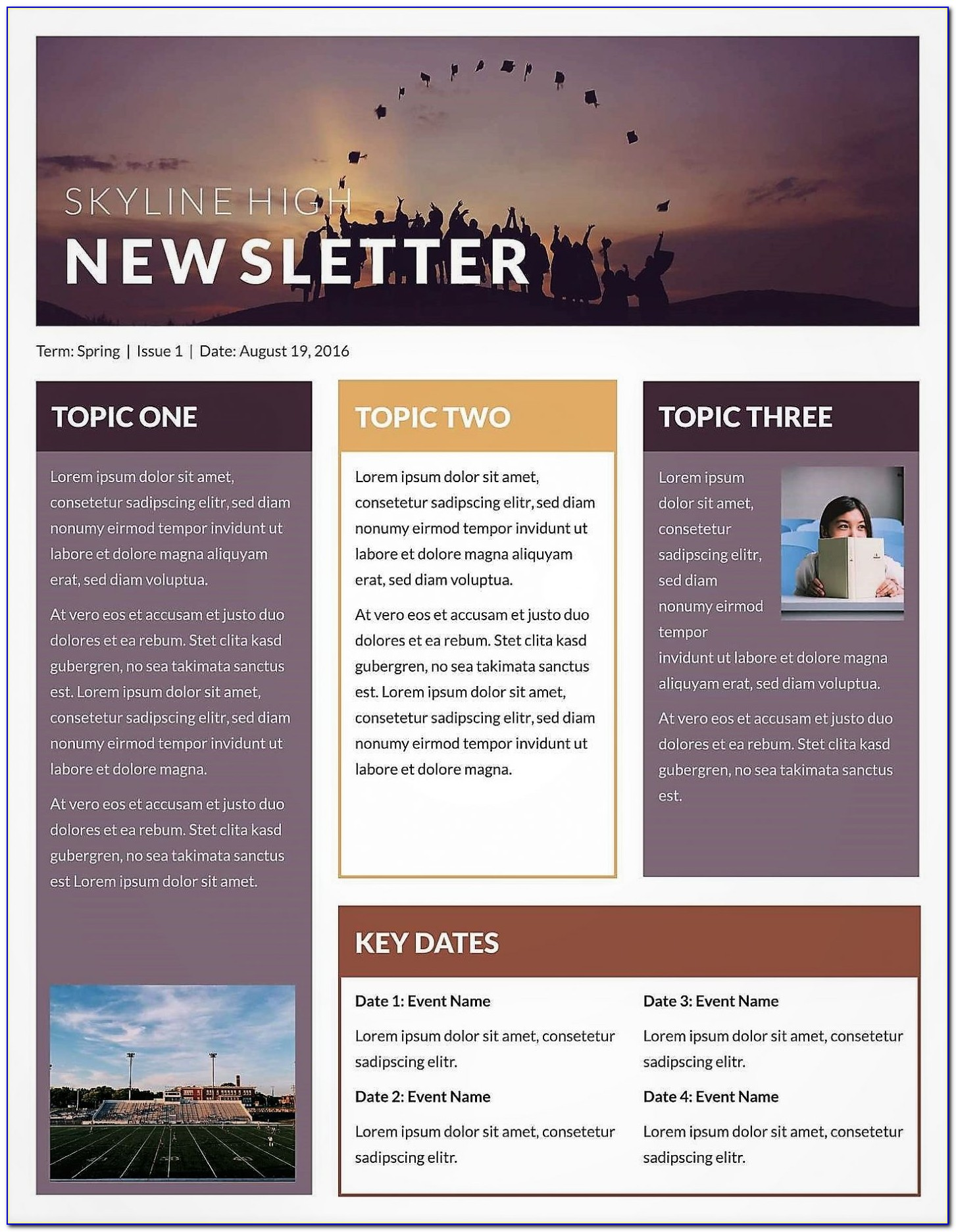 Microsoft Publisher Newsletter Templates Free Download
