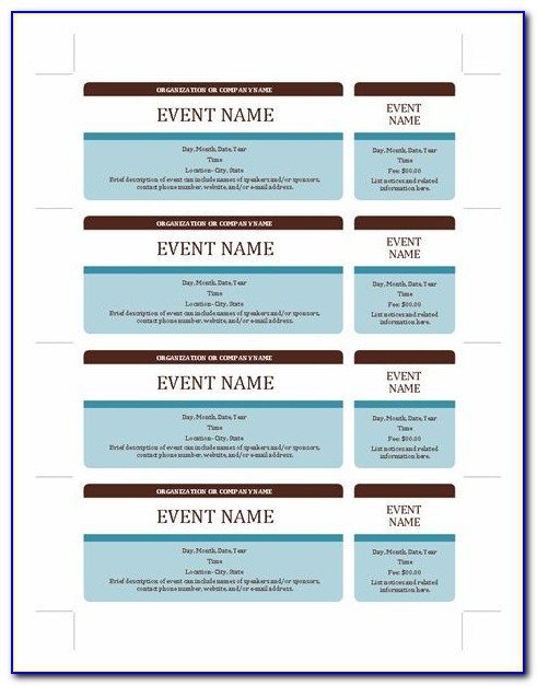 Microsoft Raffle Ticket Template Download
