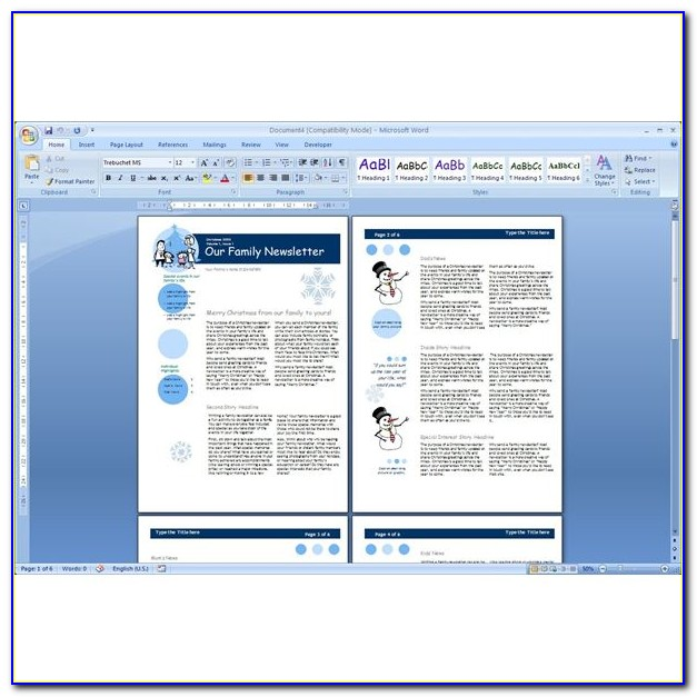 Microsoft Word Newsletter Template Free Download