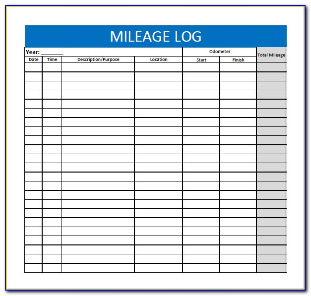 Mileage Template Free Vincegray2014