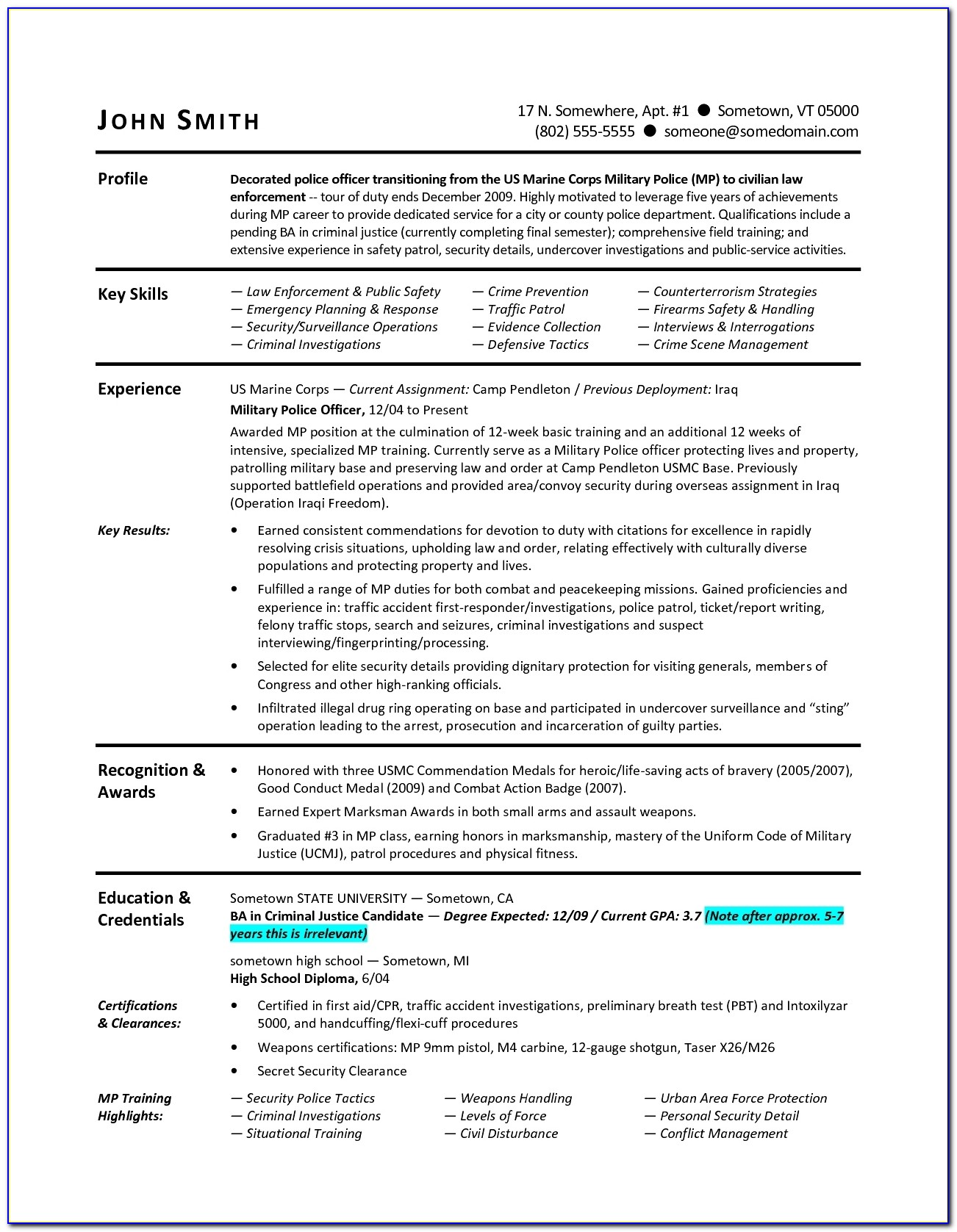 Military Veteran Resume. 7 Amazing Government & Military Resume Within Military Resume Builder 2017