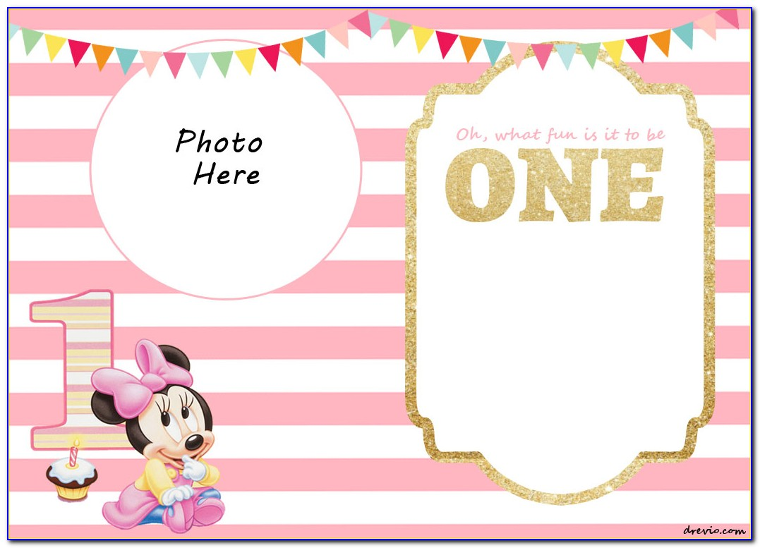 Minnie Mouse Birthday Invitation Template Free Download