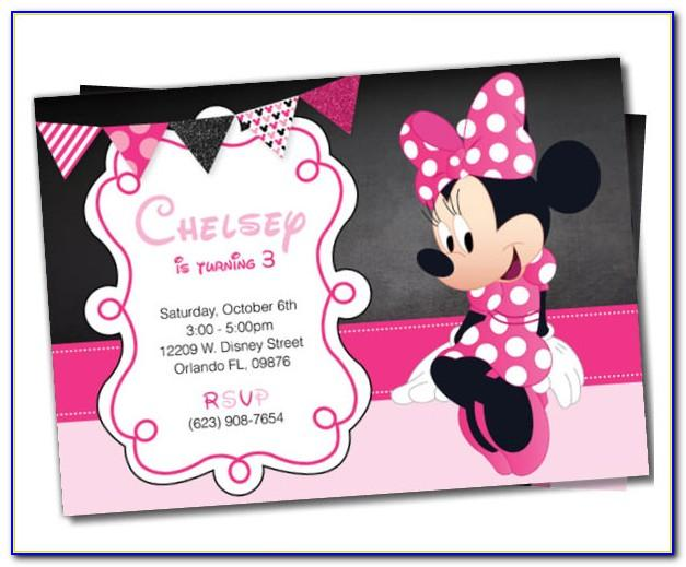 Minnie Mouse Birthday Party Invitation Templates