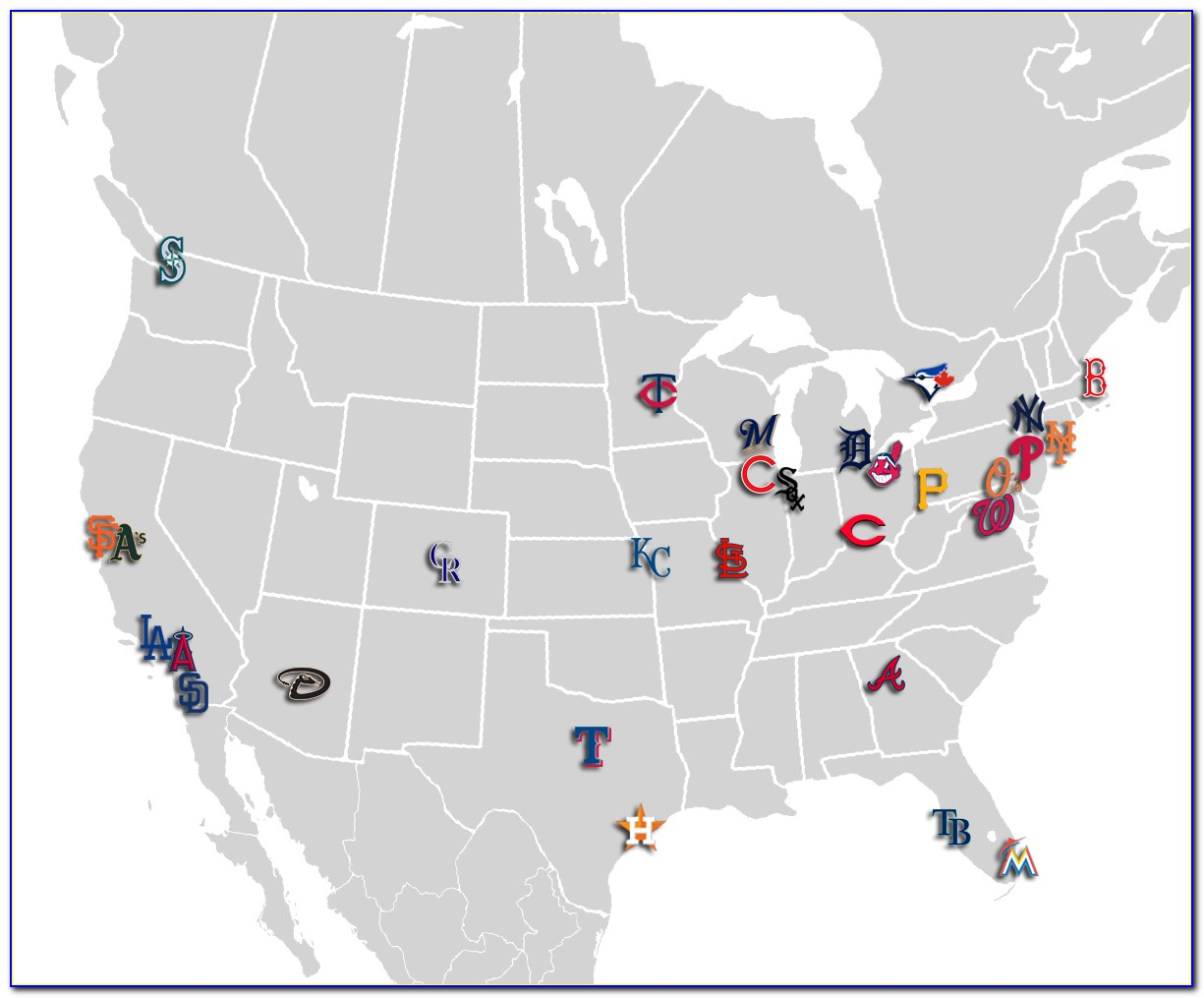 Mlb Stadium Map Set