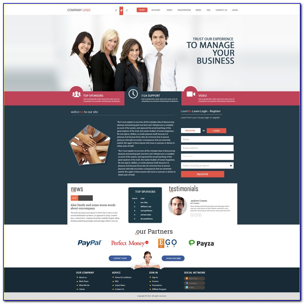 Mlm Website Templates Bootstrap