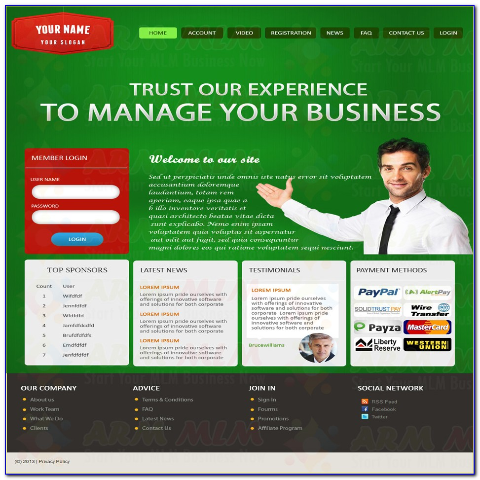 Mlm Website Templates Free Download