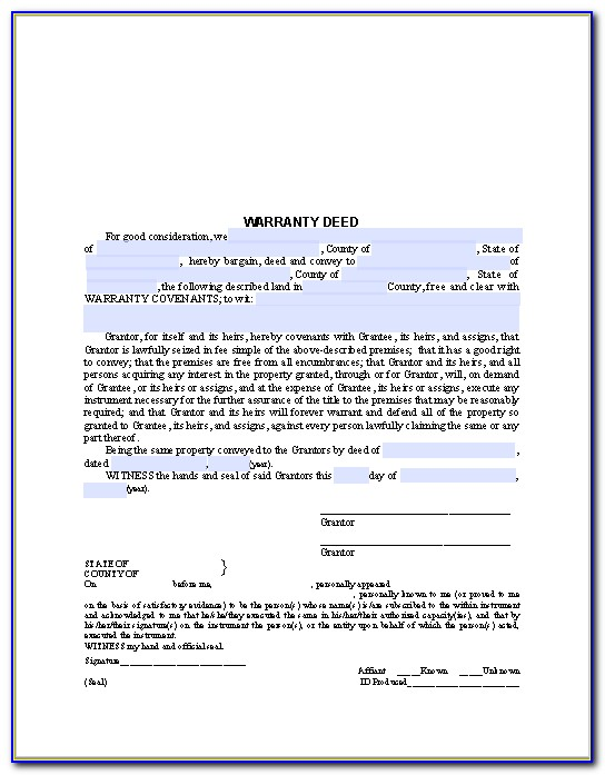 Mo Beneficiary Deed Form