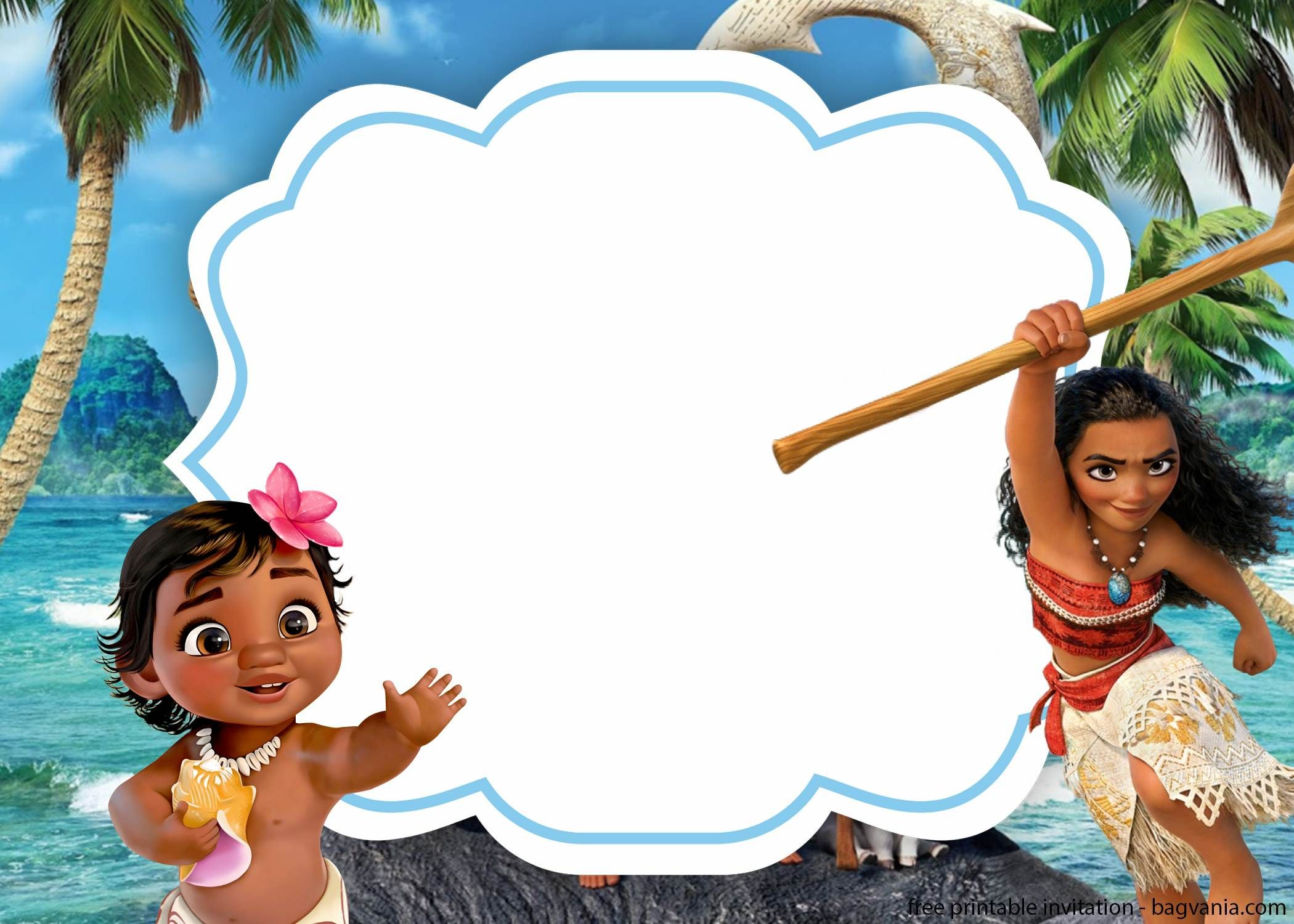 Moana Birthday Party Invitation Template