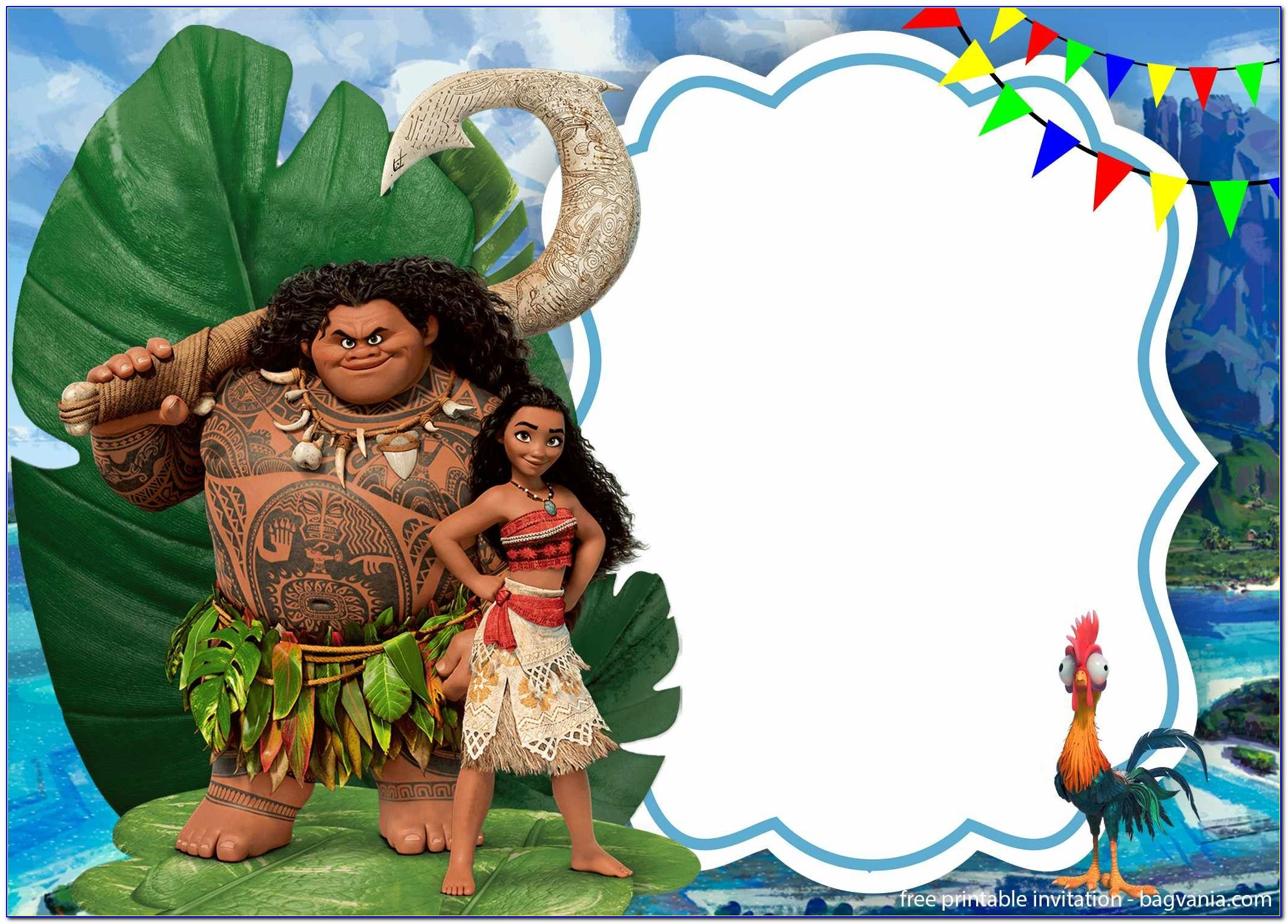 Moana Invitation Template Download