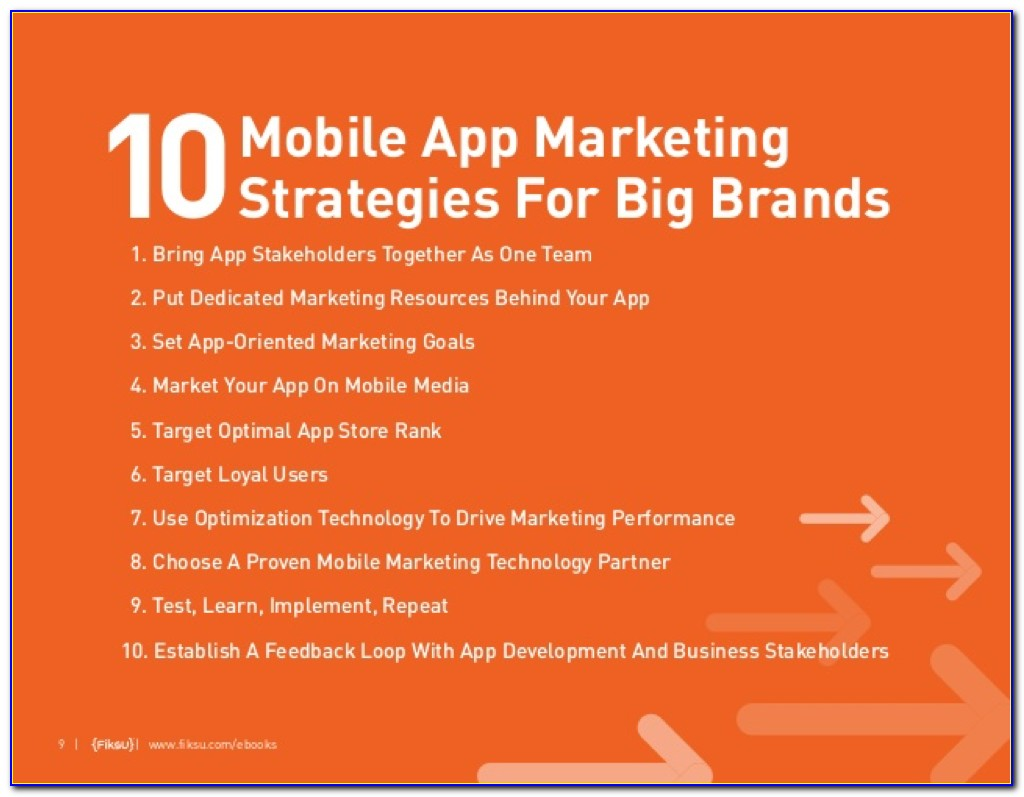 Mobile App Marketing Plan Example