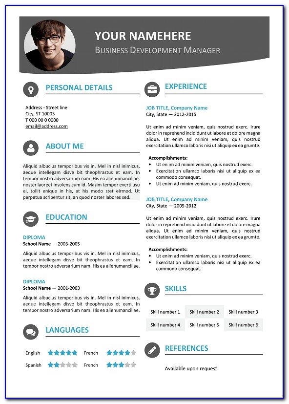 Modern Professional Resume Template 2018