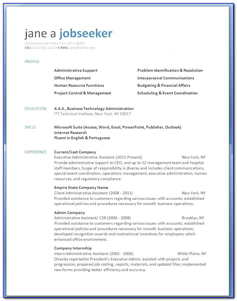 Modern Resume Template Free Download 2018