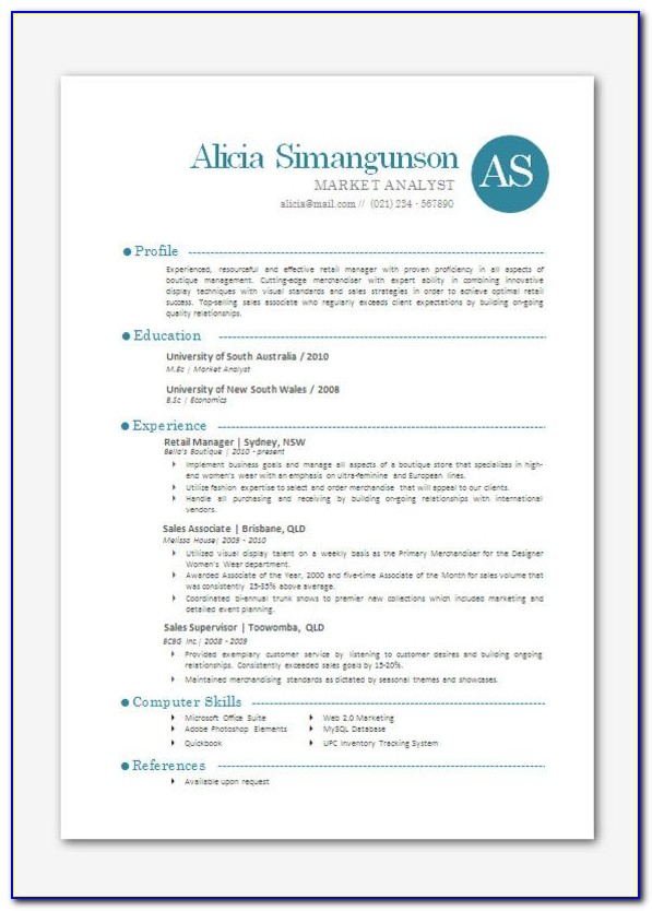 Modern Resume Template Free Download For Freshers