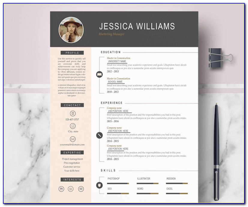 Modern Resume Template Free Downloads