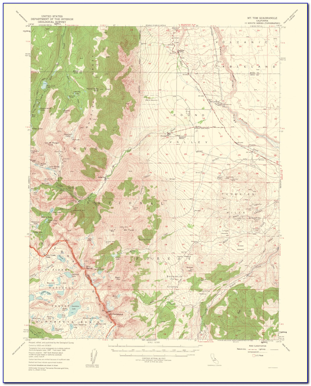 Montana Topo Map Index