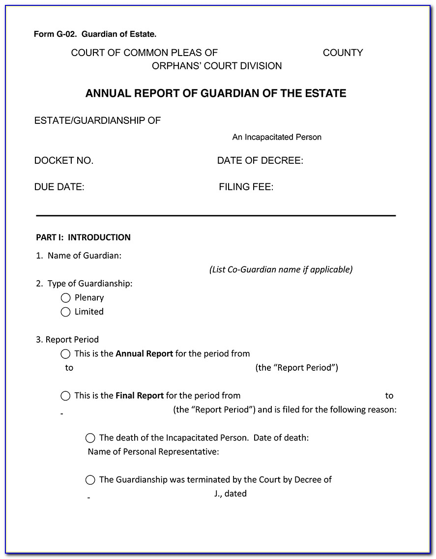 Montgomery County Pa Guardianship Forms