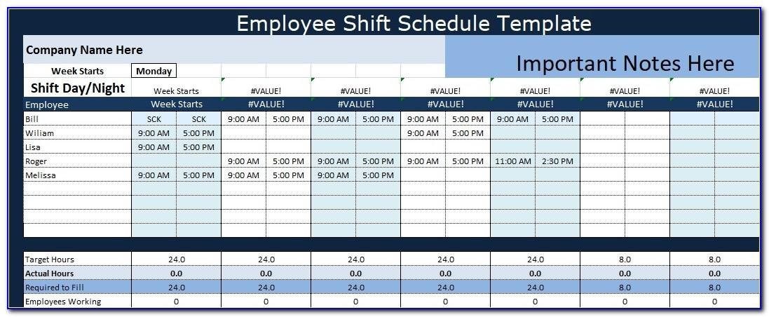 Free Monthly Employee Shift Schedule Template Vincegray2014